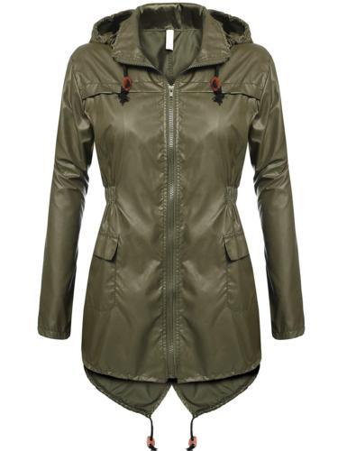 Beyove Women Plus Size Lightweight Raincoat Travel Hoodie Ra