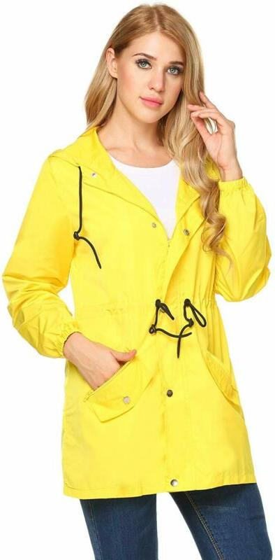 UNibelle Raincoat Hooded Rain Jacket Active Windbreake