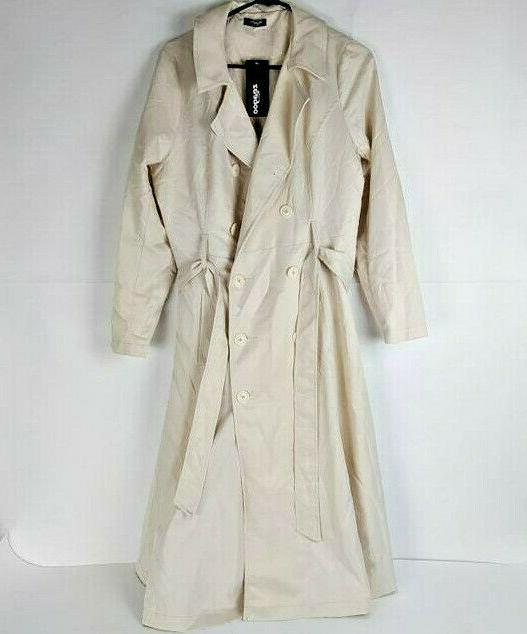 Zeagoo Double-Breasted Trench Jacket Rain w Sz Med