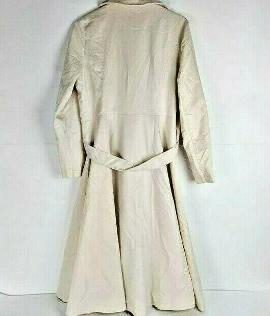 Zeagoo Double-Breasted Trench w Cream Sz Med