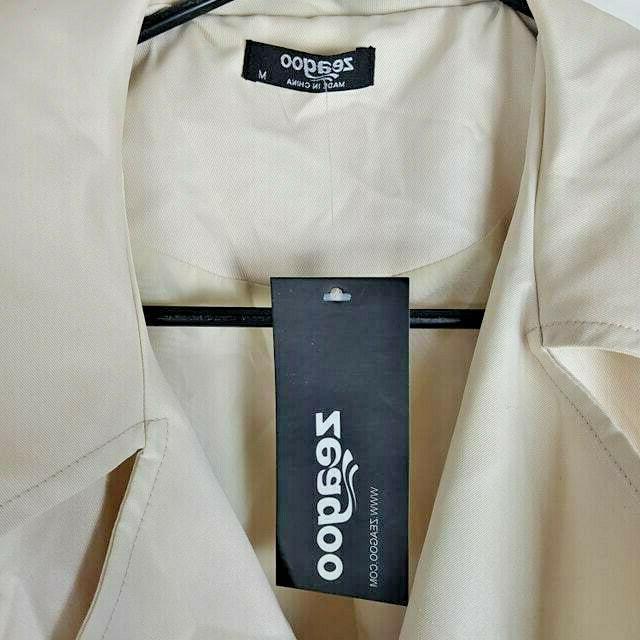 Zeagoo Women's Trench Coat Jacket w Belt Med