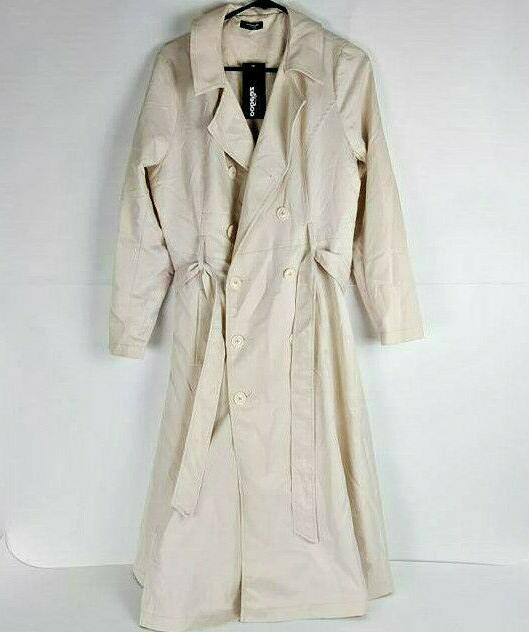 women s double breasted long trench coat