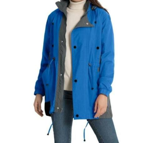 Women's Fall Spring hooded Rain Anorak with liner jacket tre