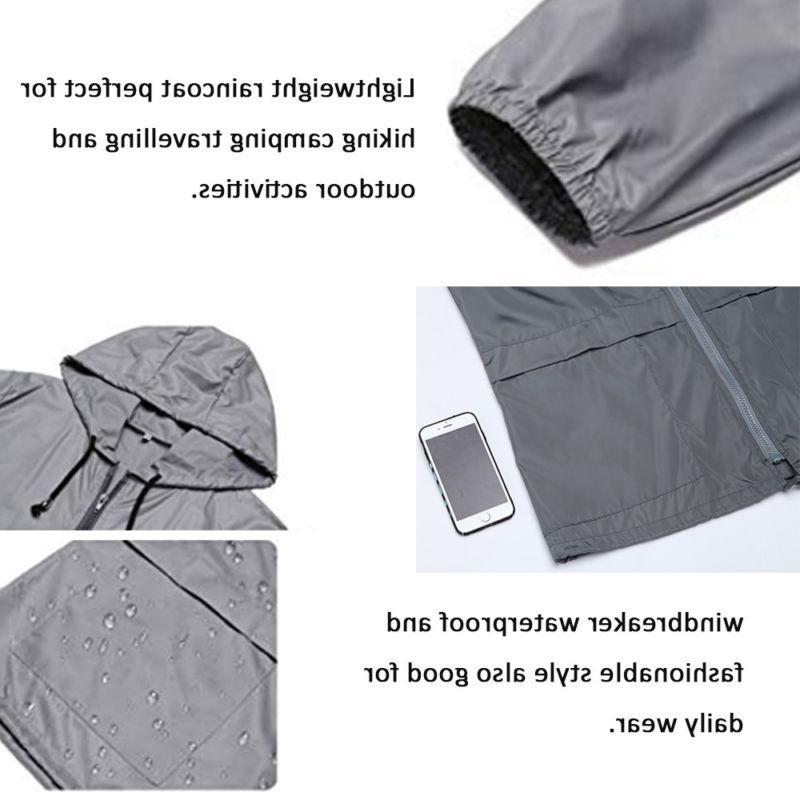 Women's Hooded Breaker Jacket Rain Coat