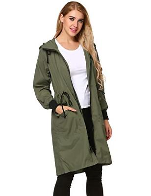 Zeagoo Lightweight Waterproof Active Jacket,Army