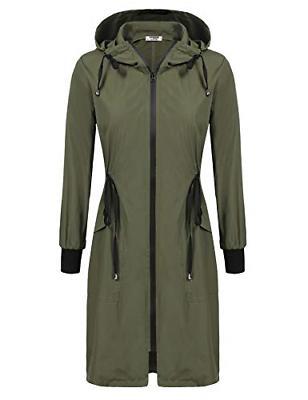 Zeagoo Waterproof Jacket,Army