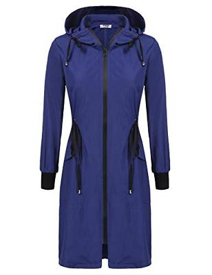 Zeagoo Womens Raincoat Waterproof Zip