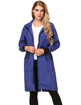 Zeagoo Womens Raincoat Women Waterproof Zip