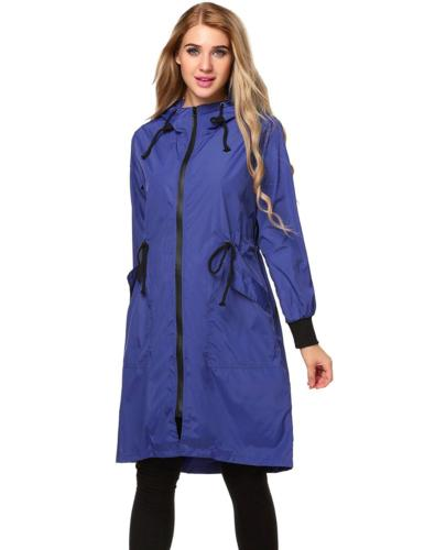 Zeagoo Women's Long Rain Jacket Packable Breathable Waterpro