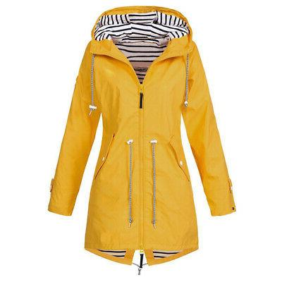 promo codes the best new cheap Plus Size Womens Rain Mac Wind Waterproof Jacket
