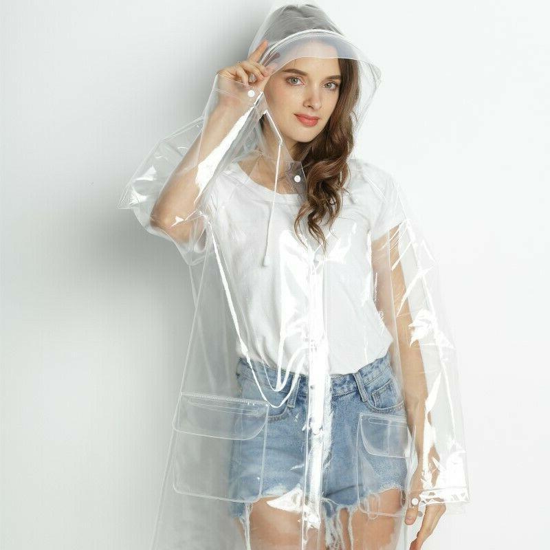 Women's Transparent Outerwear Girls Coat