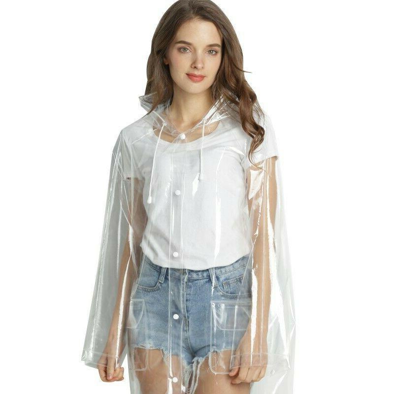 Women's Transparent Outerwear Girls Stylish Rain Coat