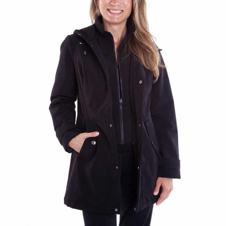HFX Water-Resistant Jacket Trench Coat