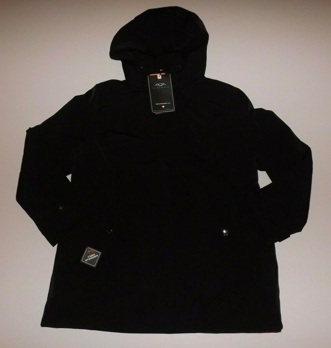 HFX Women's Water-Resistant Rain Jacket Black L