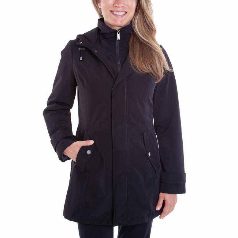 women s water resistant rain jacket hooded