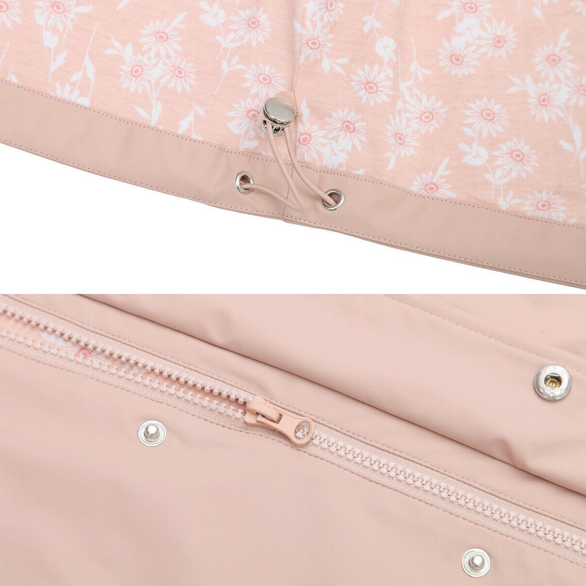 Women's Casual Hooded Rain Jacket Parka Outwear