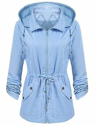 women s waterproof lightweight detachable hood rain