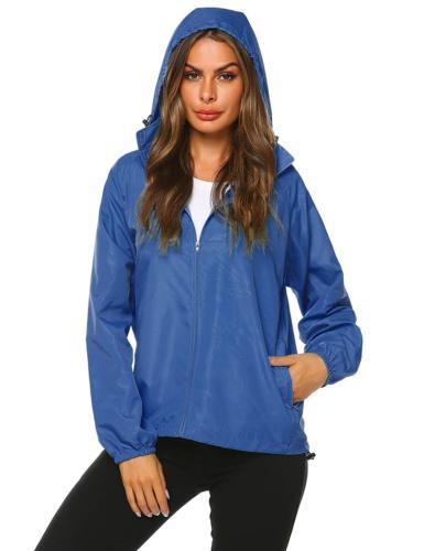 Zeagoo Raincoat Outdoor Hooded Rain Dark