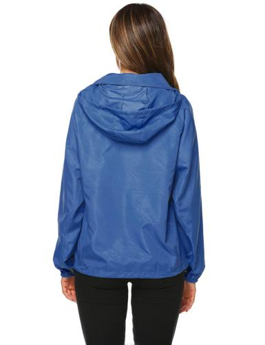 Zeagoo Women's Outdoor Rain Jacket Dark XL