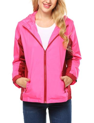 unibelle Women's Waterproof Raincoat Rainwear Rain Jacket,Wi