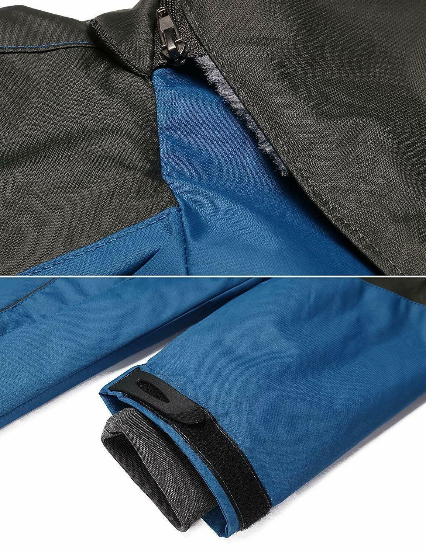 Zeagoo Women's Thickening Outdoor Hooded Rain Jacket