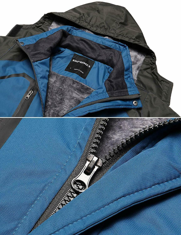 Zeagoo Waterproof Raincoat Thickening Fleece Rain Jacket