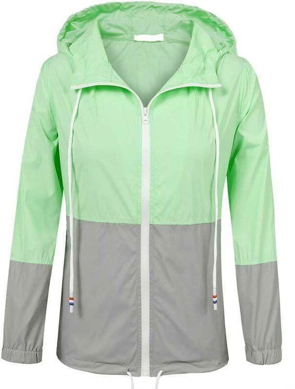Soteer Women'S Zip Up Outdoor Raincoat Hooded Lightweight Wa