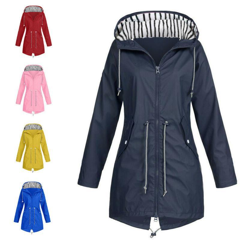 Women's Rain Jacket Outdoor Jackets Waterproof Hooded Rain
