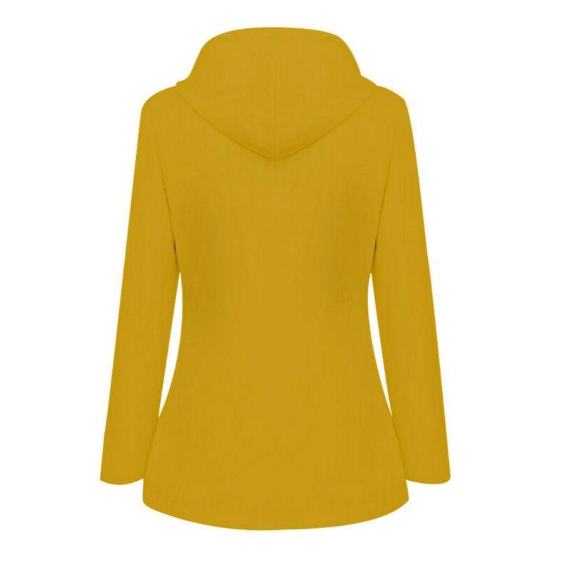 Women Outdoor Plus Hooded Raincoat