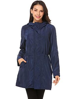 SoTeer Women Waterproof Lightweight Rain Jacket Outdoor Hood