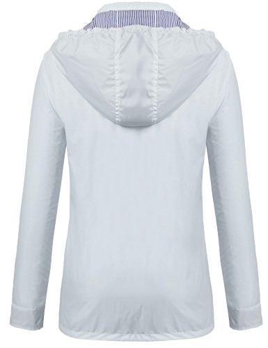 Zeagoo Women Waterproof Packable Outdoor Jacket,Style 1 Light
