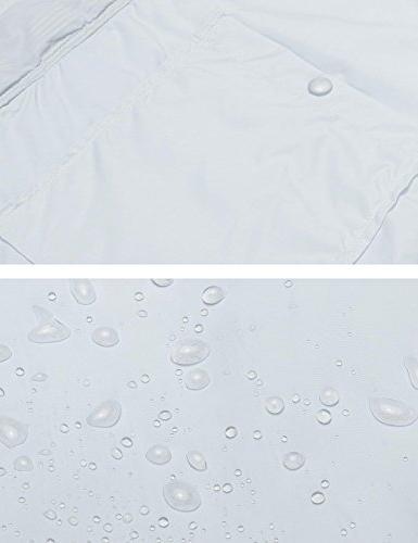Zeagoo Women Waterproof Raincoat Packable Outdoor Jacket,Style Gray,Small