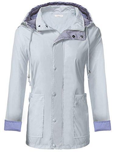 Zeagoo Waterproof Packable Hooded Jacket,Style 1