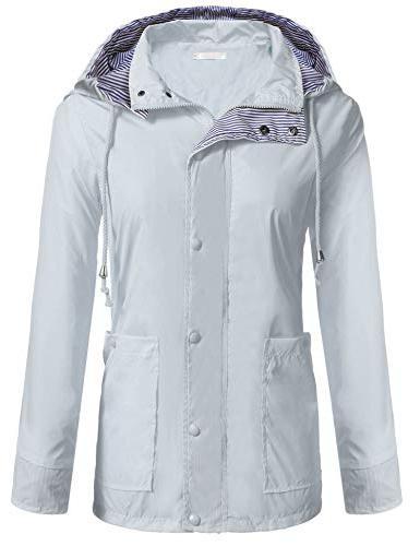 women waterproof raincoat packable outdoor hooded rain