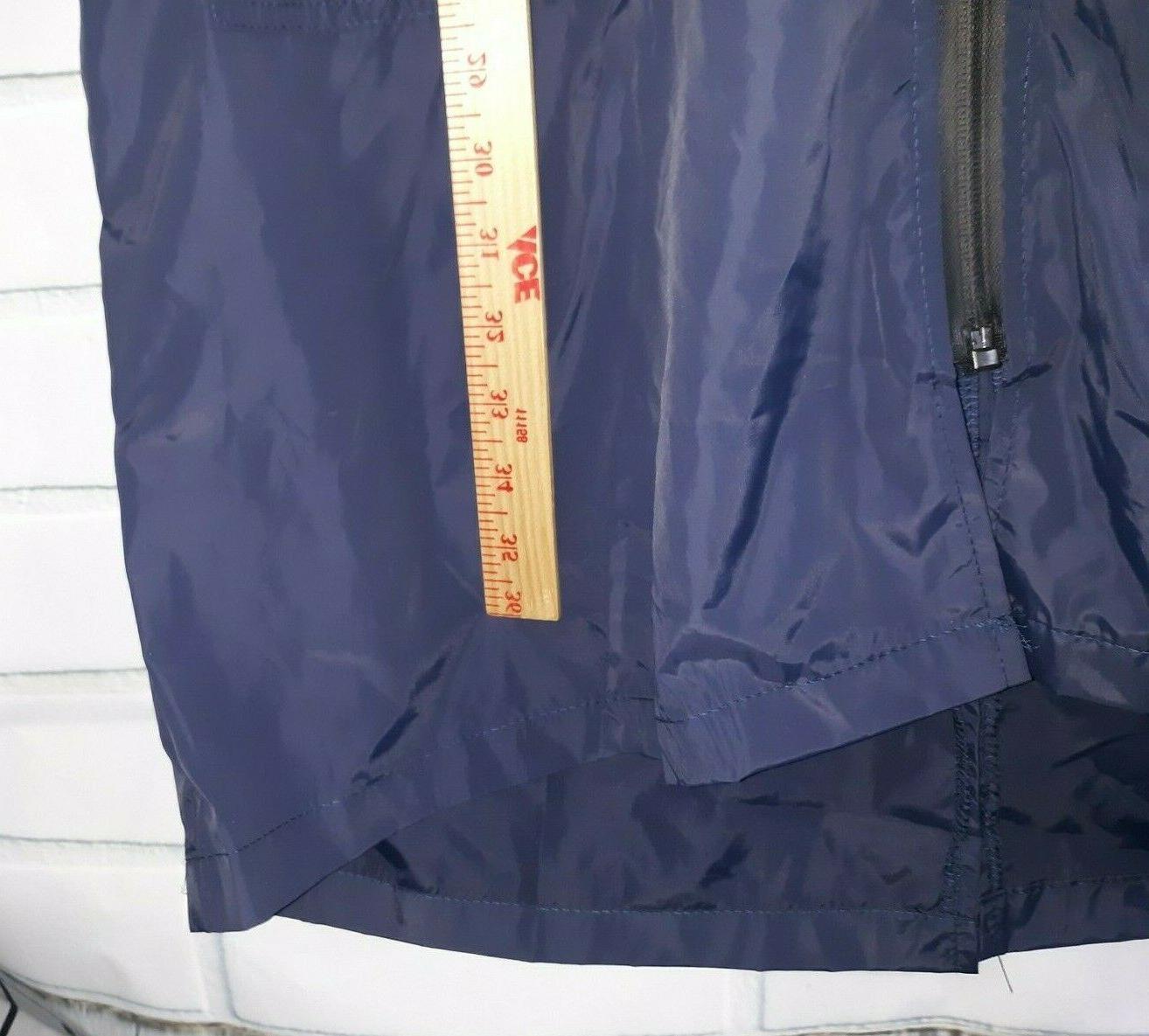 Zeagoo WOMENS JACKET Large Navy Rain Drawstring