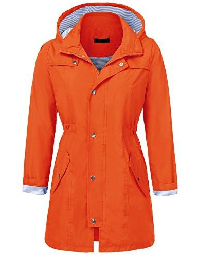 womens lightweight hooded raincoat active outdoor waterproof