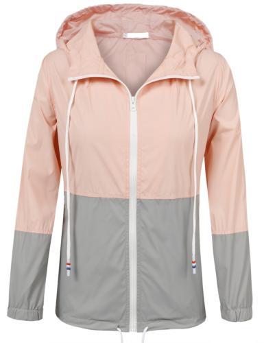 SoTeer Womens Lightweight Rain Jacket Hooded Raincoat Active