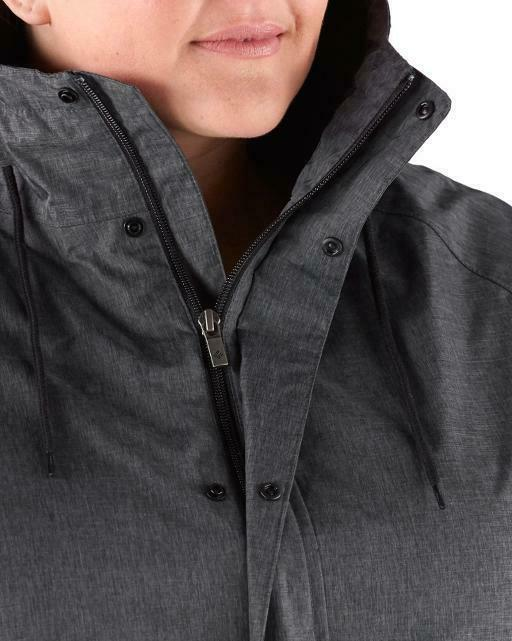 COLUMBIA Womens Plus Laurelhurst Park Rain Jacket -- 3X -- Heather --