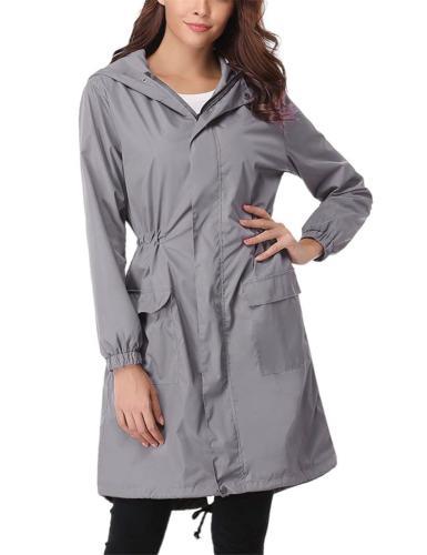 Abollria Womens Rain Coat Waterproof Hooded Lightweight Rain