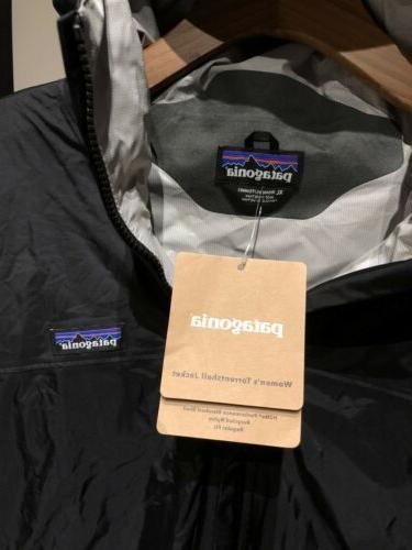 Women's Patagonia Torrentshell Rain Coat XL Black
