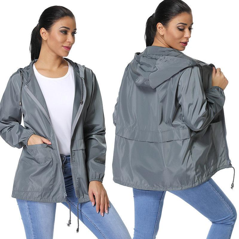 Womens Warm Hooded Long Windbreaker Parka