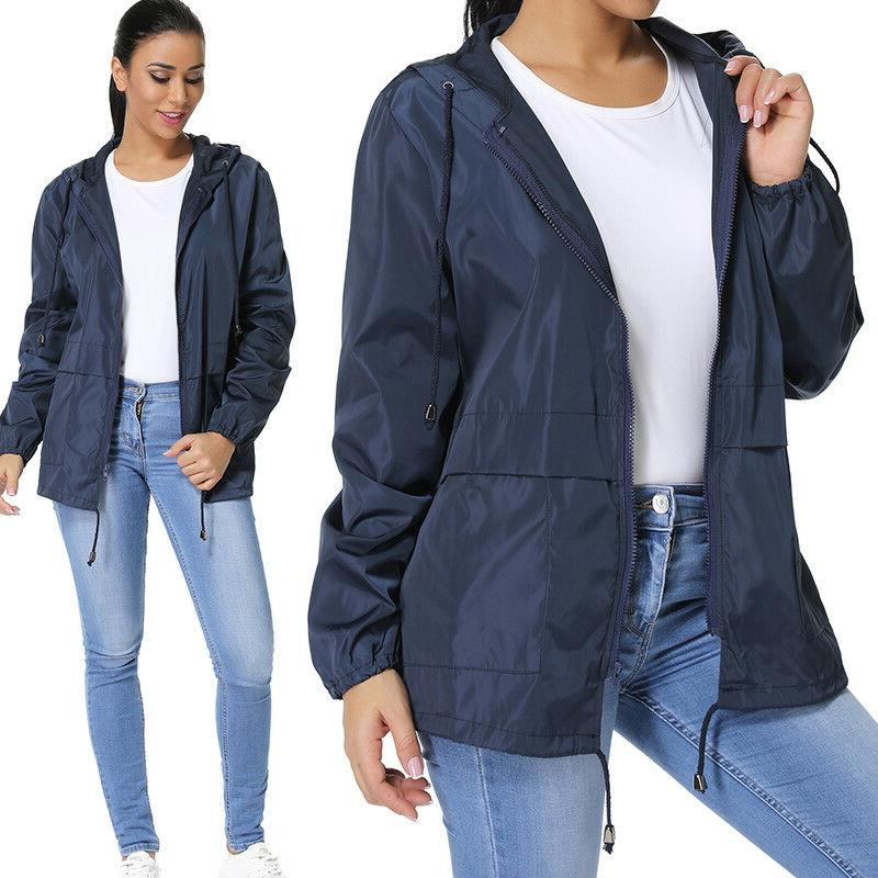 Womens Coat Jacket Windbreaker