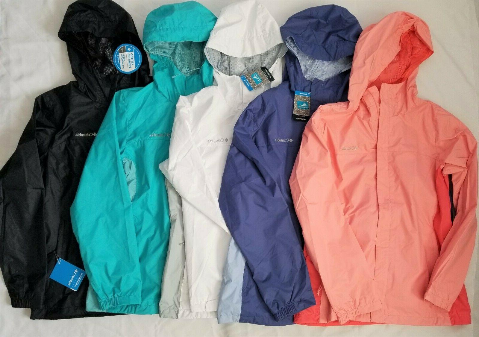 Womens Columbia Rain Jacket Blue