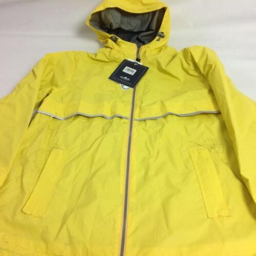 Charles Apparel Womens Rain Jacket Hooded Long Sleeve Yellow L