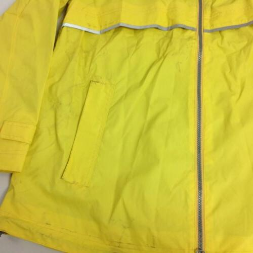 Charles River Z1 Womens Rain Hooded Long Sleeve Yellow Size L