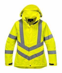 ladies hivis breathable jacket reflective safety rain