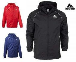Adidas Lightweight Rain Jacket Waterproof Coat Top Hooded Ho