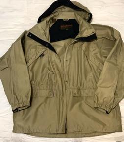 TIMBERLAND WEATHERGEAR LONG SLEEVE HOODED JACKET RAIN COAT S