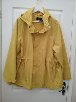 M & S Buttercup Yellow Medium Weight Rain Jacket/anarack Siz