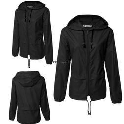 Meaneor Women Waterproof Windproof Jacket Lightweight Rain C